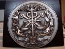 Внешний видо подарочной медали на подставке