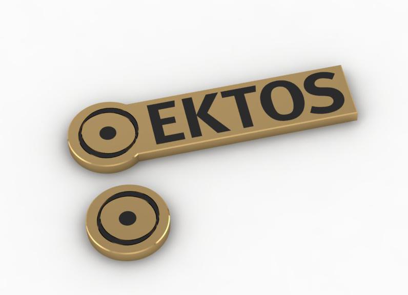 """Фото Изготовление лацканного значка на юбилей фирмы """"Ektos""""."""