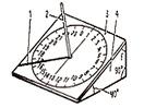 схема солнечных часов
