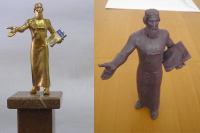 Скульптура и восковая модель