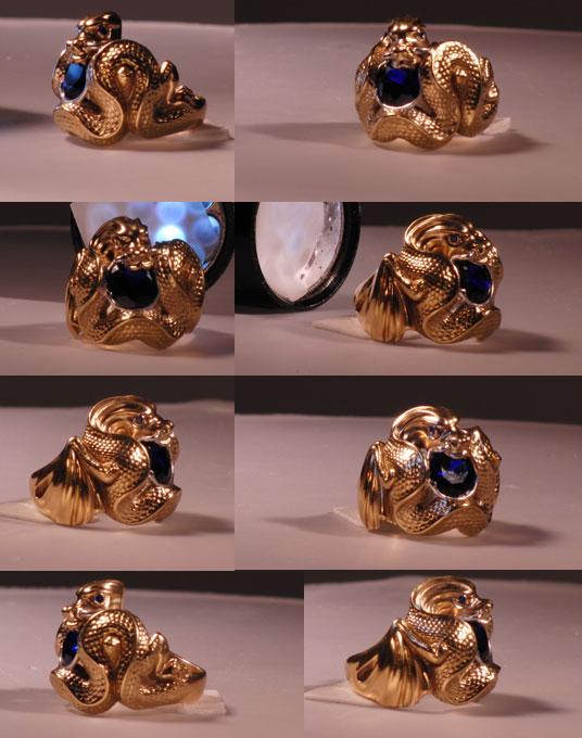 Изготовление ювелирного кольца Дракончик под заказ
