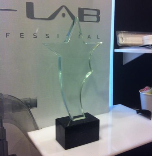 Приз Scissors Award 2012 стекло на камне