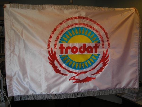 Двухсторонний флаг изготовление